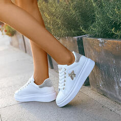 Women's PU Casual Outdoor With Imitation Pearl Lace-up shoes
