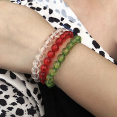 Delicate Braided Rope Beads Bracelets 3 PCS