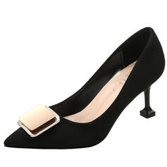 Women's Suede Stiletto Heel Pumps Pointed Toe With Bowknot shoes