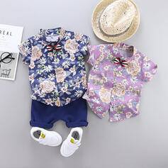 2-pieces Baby Boy Floral Print Cotton Set