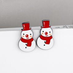 Snowman Acrylic With Acrylic Women's Earrings 2 PCS