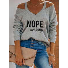 Figure Cold Shoulder Long Sleeves Casual Blouses