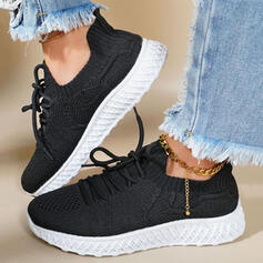 Women's Flying Weave Others Flats Sneakers With Lace-up Solid Color shoes