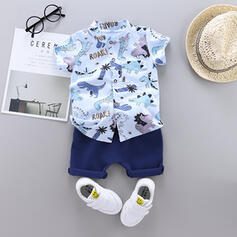 2-pieces Toddler Boy Dinosaur Animal Print Cotton Set