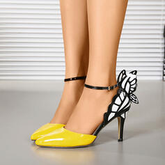 Women's PU Stiletto Heel Pointed Toe With Buckle Animal Print shoes