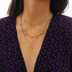 Layered Alloy Necklaces (Set of 4)