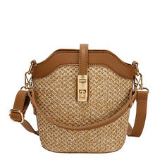 Delicate/Dreamlike/Solid Color/Bohemian Style/Braided Clutches/Crossbody Bags/Shoulder Bags/Beach Bags