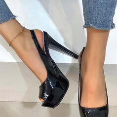 Women's PU Stiletto Heel Pumps Platform Heels With Hollow-out Solid Color shoes