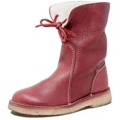 Women's PU Low Heel Mid-Calf Boots Snow Boots Round Toe With Lace-up Solid Color shoes