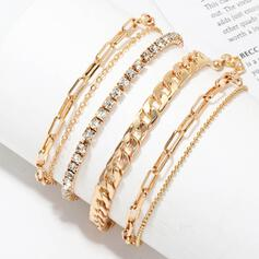 Infinity Pretty Hottest Layered Alloy With Rhinestones Bracelets 6 PCS