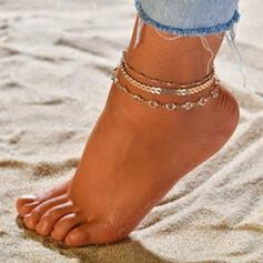 Unique Alloy Beach Jewelry Anklets (Set of 3)