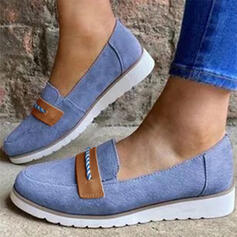 Women's Suede Flat Heel Flats With Elastic Band shoes
