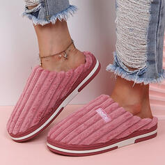 Women's Suede Flat Heel Sandals Flats Slippers Round Toe With Letter shoes