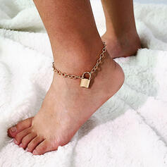 Locks Shaped Alloy Anklets