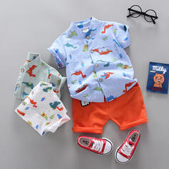 2-pieces Baby Boy Dinosaur Print Cotton Set