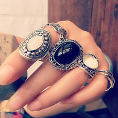 Hottest Fancy Alloy Jewelry Sets Rings (Set of 5 pairs)
