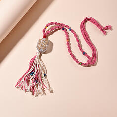 Tassels Design Natural Stone Braided Rope Necklaces