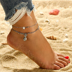 Charming Alloy With Star Fruit Anklets (Set of 2)