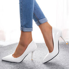 Women's PU Stiletto Heel Pumps Heels Pointed Toe With Solid Color shoes