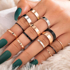 Stylish Simple Alloy Jewelry Sets Rings (Set of 14)