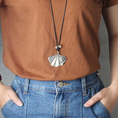 Simple Seashell Alloy With Shell Necklaces 1 PC