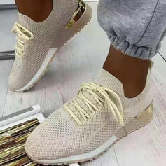 Women's Cloth Mesh Others Flats Sneakers With Lace-up Elastic Band shoes
