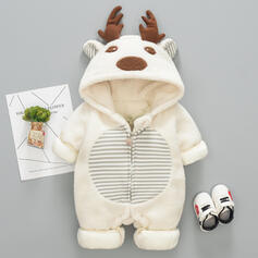 Baby Christmas Deer Animal Edgy Cotton One-piece