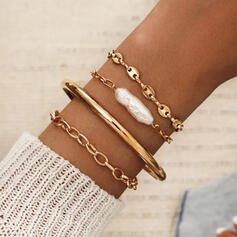 Hottest Link & Chain Alloy Resin Jewelry Sets Bracelets 4 PCS