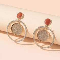 Shining Round Alloy Earrings (Set of 2)