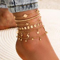 Hottest Stars Alloy With Tassels Anklets 6 PCS
