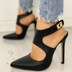 Women's PU Stiletto Heel Pointed Toe With Buckle shoes