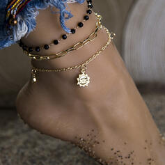 Hottest Alloy With Star Moon Sun Anklets (Set of 3)