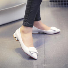Women's PU Chunky Heel Pumps Pointed Toe With Others shoes