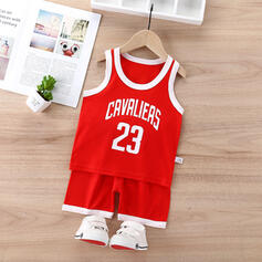 2-pieces Baby Boy Letter Print Cotton Set