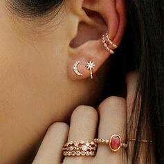 Stars Alloy Rhinestones Jewelry Sets Earrings Rings (Set of 8)