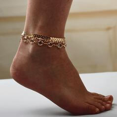 Hottest Alloy With Rhinestone Anklets (Set of 3)