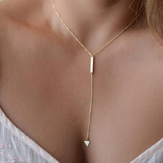 Simple Coeur Alliage Femmes Colliers