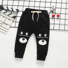 Toddler Boy Pearl Cartoon Animal Sporty Edgy Print Cotton Pants