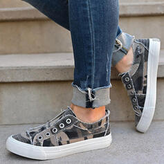 Women's Cloth Flat Heel Flats Espadrille With Patchwork Splice Color shoes