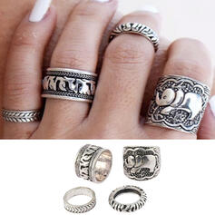 Hottest Fancy Alloy Jewelry Sets Rings (Set of 4)