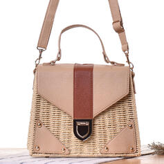 Unique/Special/Splice Color/Bohemian Style/Braided Tote Bags/Crossbody Bags/Shoulder Bags/Beach Bags