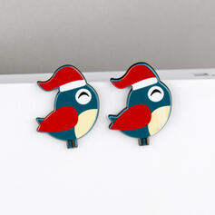 Birds Acrylic With Acrylic Women's Earrings 2 PCS