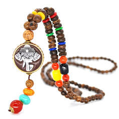 Exotic Boho Alloy Resin Wooden Beads Necklaces