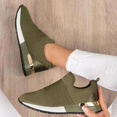 Women's Cloth Mesh Others Flats Slip On With Patchwork shoes