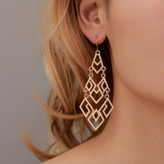Geometric Baroque Style Alloy With Acrylic Earrings 2 PCS