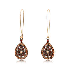 Exotic Boho Hottest Drop Shape Alloy With Beads Earrings (Set of 2)