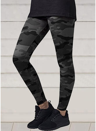 Camouflage Casual Sporty Yoga Leggings