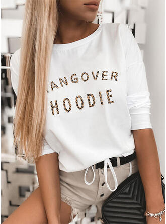 Leopard Figure Round Neck Long Sleeves Casual T-shirts