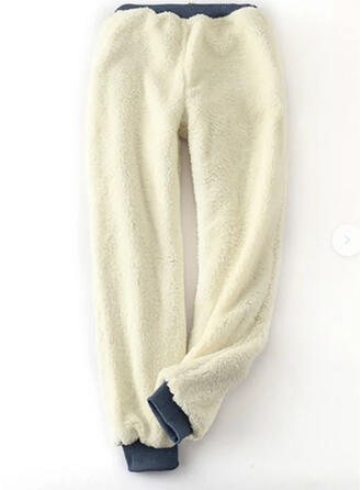 Solid Plus Size Drawstring Casual Sporty Pants