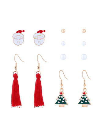 Attractive Charming Artistic Animal Alloy With Tassels Women's Earrings (Set of 6 pairs)
